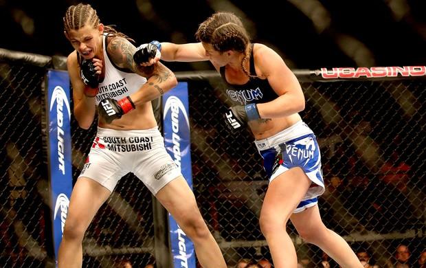 Leslie Smith vence luta UFC Atlantic City (Foto: Reuters)