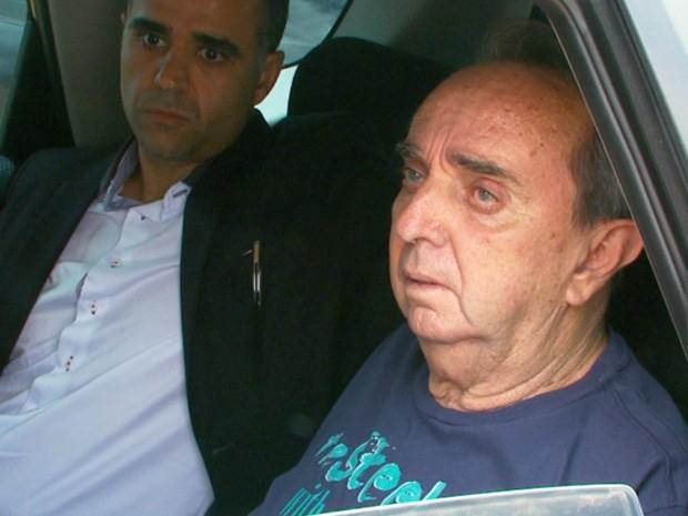Ex-prefeito de Três Corações deixa penitenciária da cidade (Foto: Lucas Magalhães/Reprodução EPTV)