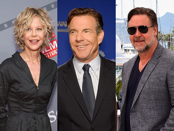 Meg Ryan, Dennis Quaid e Russell Crowe (Foto: Getty Images)