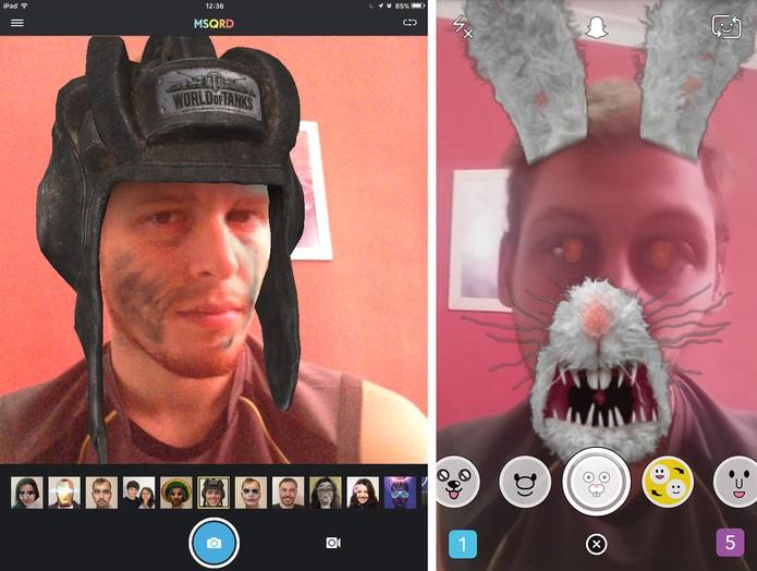 MSQRD e Snapchat estão disponíveis no Android e iOS (Foto: Reprodução/Elson de Souza)