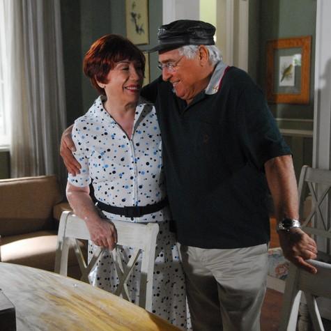 Berta com Luiz Gustavo em Cama de Gato (Foto: TV Globo)