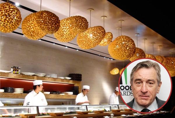 O ator Robert De Niro é dono de vários restaurantes, entre eles o japonês Nobu, que funciona em Nova York desde 1993 (Foto: Getty Images / Divulgação)