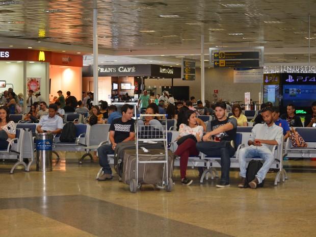 Aeroporto de Viracopos, na cidade de Campinas (SP) (Foto: Júlia Groppo/G1)
