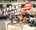 Tiago Leifert com Cláudia Leitte, Carlinhos Brown, Lulu Santos e Daniel   João Miguel Júnior/TV Globo