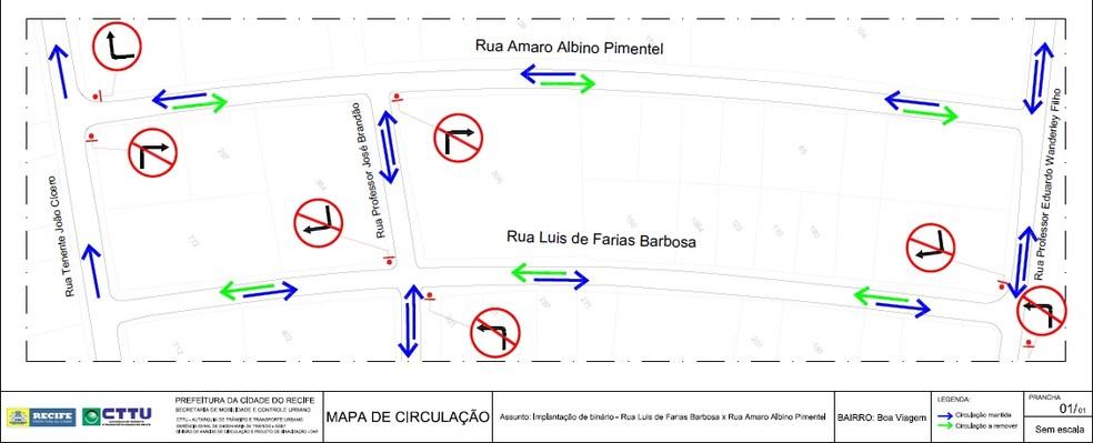 Agentes de trânsito vão ajudar condutores na primeira semana da mudança (Foto: Divulgação/CTTU)