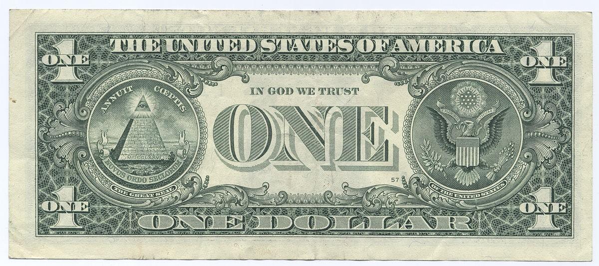 nota de um dólas (Foto: Domínio Público)