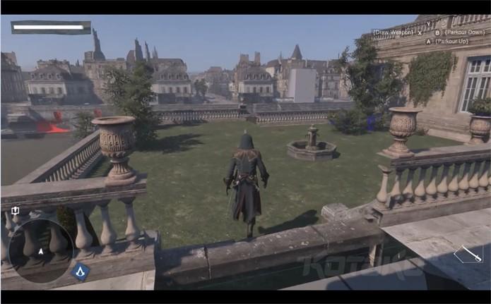 Praça vazia e pouco detalhada indica que o jogo ainda está no início do desenvolvimento (Foto: Kotaku)