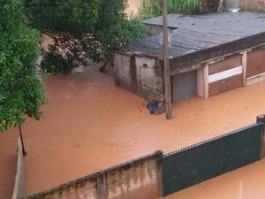 Morador de Itatiba registra inundação na cidade (Foto: Arquivo pessoal)
