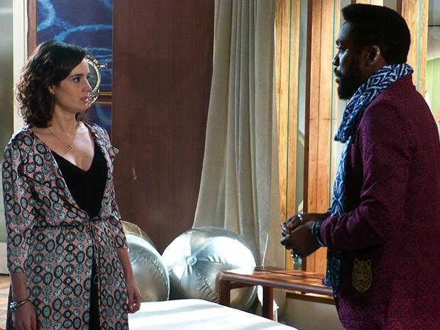 Lara avisa para Brian que o casamento dos dois acabou (Foto: Geração Brasil/TV Globo)