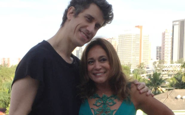 Theodoro Cochrane e Susana Vieira durante entrevista para o quadro