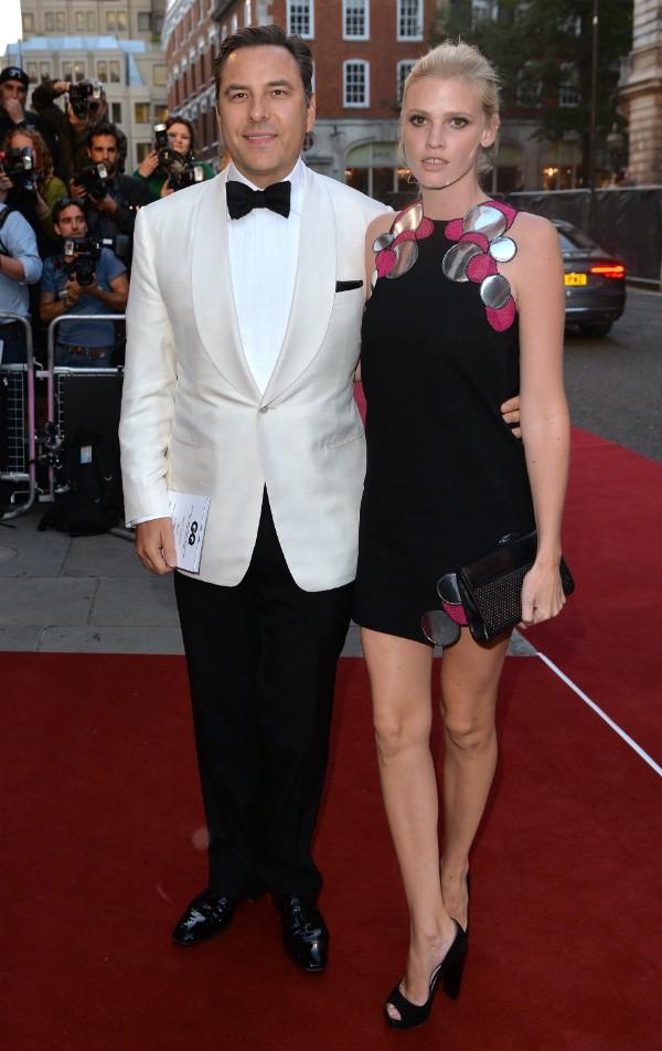 David Williams e Lara Stone em evento no final de 2014 (Foto: Getty Images)