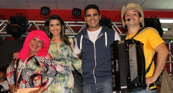 Grupo Xenhenhém foi atração musical do Programão do sábado (19) (Foto: Katylenin França/Gshow)