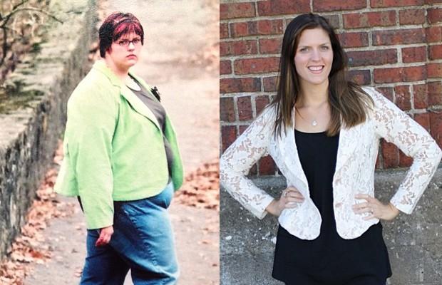 A transformação do corpo de Brooke, antes e depois de perder quase 80kg (Foto: Reprodução / Facebook)