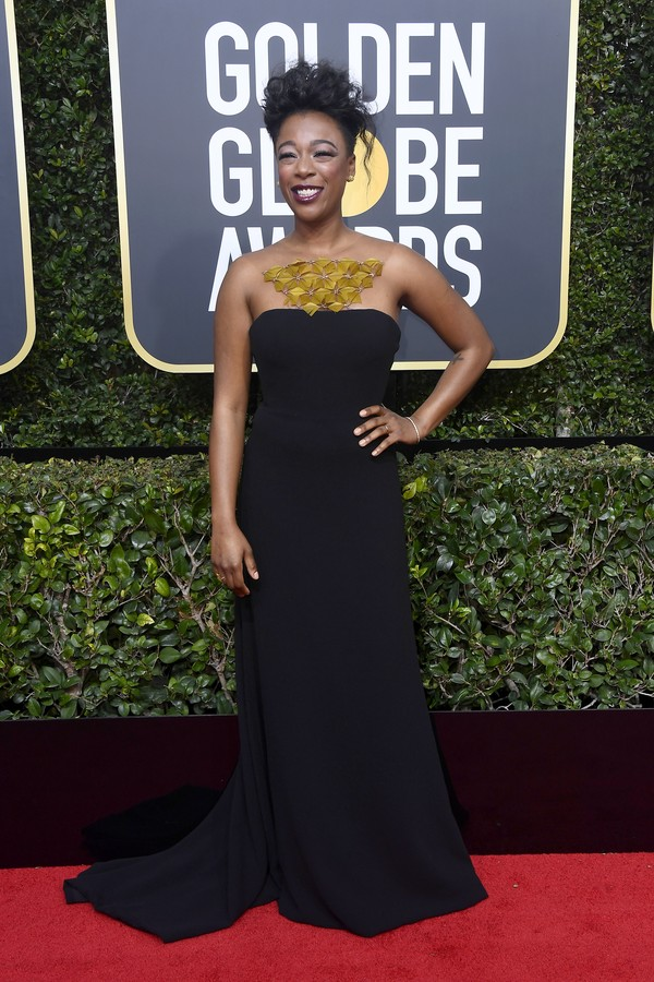BEVERLY HILLS, CA - JANUARY 07: Samira Wiley attends The 75th Annual Golden Globe Awards at The Beverly Hilton Hotel on January 7, 2018 in Beverly Hills, California.  (Photo by Frazer Harrison/Getty Images) (Foto: Getty Images)