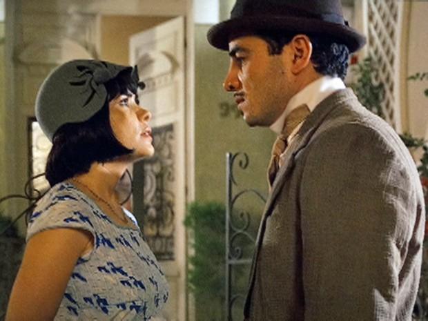 Malvina decide terminar seu namoro com Josué (Foto: Gabriela / TV Globo)