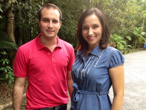 João Salgado e Sonia Campos apresentam o Vida e Saúde em Santa Catarina (Foto: Mateus Castro/RBS TV)