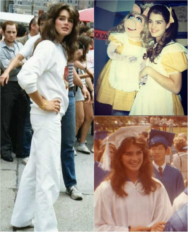Brooke Shields na década de 80: a atriz se formou em Literatura Francesa pela Universidade de Princeton, nos EUA (Foto: Reprodução do Instagram)