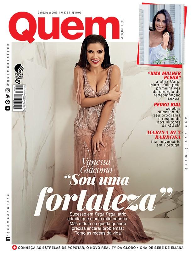 Vanessa Giácomo é capa da QUEM (Foto: Pino Gomes/ Ed. Globo)