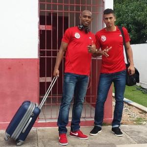 Flávio Boaventura e Zé Antônio Potiguar - América-RN (Foto: Canindé Pereira/Divulgação)