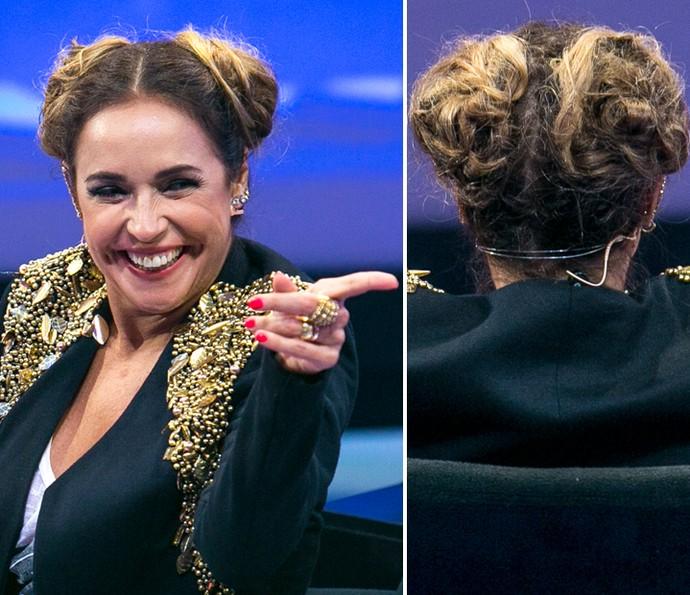Daniela Mercury comenta o penteado deste domingo, 5/6 (Foto: Isabella Pinheiro/Gshow)