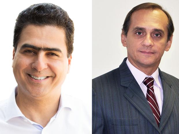 Emanuel Pinheiro (PMDB) e Wilson Santos (PSDB) disputam no segundo turno (Foto: G1)