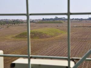 Depósito de rejeitos do Césio-137 em Abadia de Goiás foi alvo de polêmica (Foto: Adriano Zago/G1)