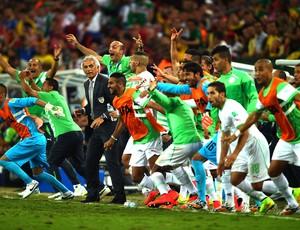 Vahid Halilhodzic técnico comemoração jogo Argélia x Rússia (Foto: Getty Images)