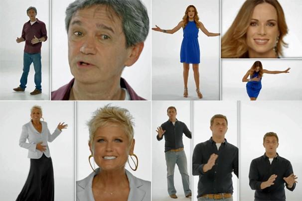Serginho Groisman, Ana Furtado, Xuxa e Luciano Huck estão entre os apresentadores que convidam você para o que Vem Aí (Foto: Rede Globo)