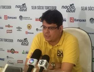 Fred Gomes executivo de futebol do Remo (Foto: Jorge Sauma)