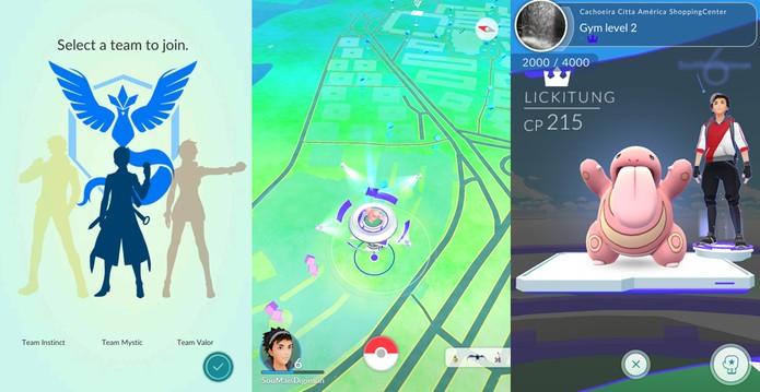 Ginásios em Pokémon Go estão espalhados pelo mapa (Foto: Reprodução/Caio Fagundes)