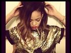 Rihanna posa com cigarro na boca nos bastidores de ensaio da nova turnê