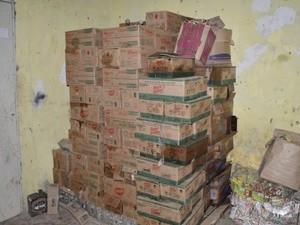 Produtos  apreendidos serão incinerados, segundo a Gevisa (Foto: Divulgação/Codecom)