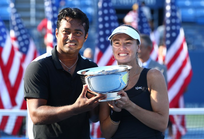 Martina Hingis e Leander Paes conquistam as duplas mistas do US Open (Foto: Getty Images)