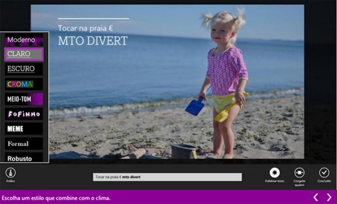 Movie Moments é um editor projetado para vídeos mais curtos, de até 1 minuto (Foto: Reprodução/Teresa Furtado)