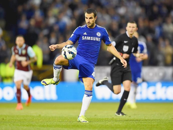 Fabregas, Burnley e Chelsea (Foto: Getty Images)