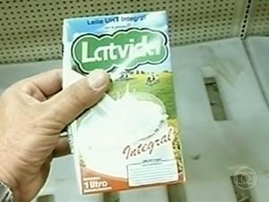 leite adulterado (Foto: Reprodução/TV Globo)