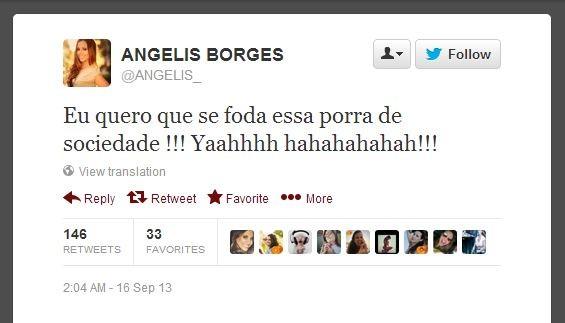 Angelis Borges (Foto: Twitter/Reprodução)