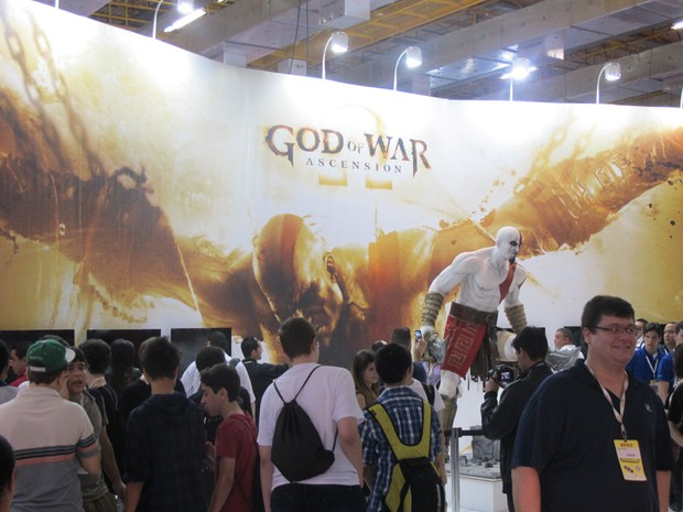'God of War' na Brasil Game Show (Foto: Gustavo Petró/G1)