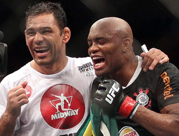 Rodrigo Minotauro e Anderson Silva comemoração UFC luta  (Foto:  Inovafoto/ Divulgação/ UFC)