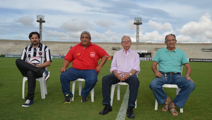 Pierre Elloy, Marcos Jaburu, Carlos Pereira de Carvalho e Eudes Toscano (Foto: Hévilla Wanderley / GloboEsporte.com/pb)