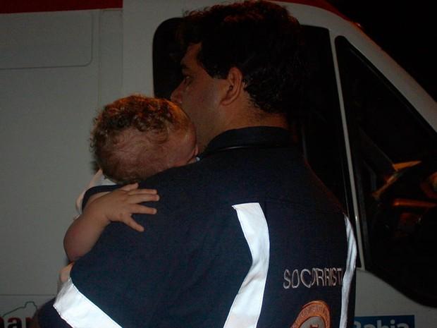 Bebê saiun ileso  (Foto: Danuse Cunha /Site: Itamaraju Notícias)