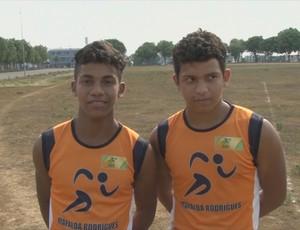 Lucas e Dionatan, irmão e atletas da zona rural de Ariquemes (Foto: Reprodução/ TV Rondônia)