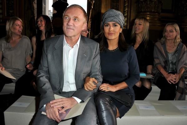François-Henri Pinault e Salma Hayek (Foto: Getty Images)