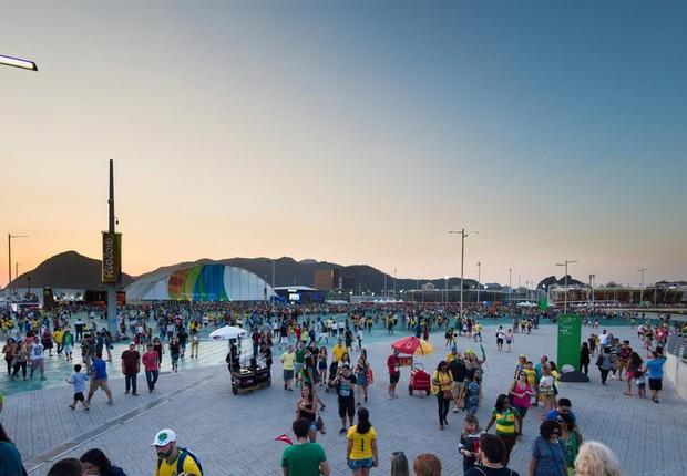 Recorde de público no Parque Olímpico da Barra (Foto: Rio 2016/Alex Ferro)