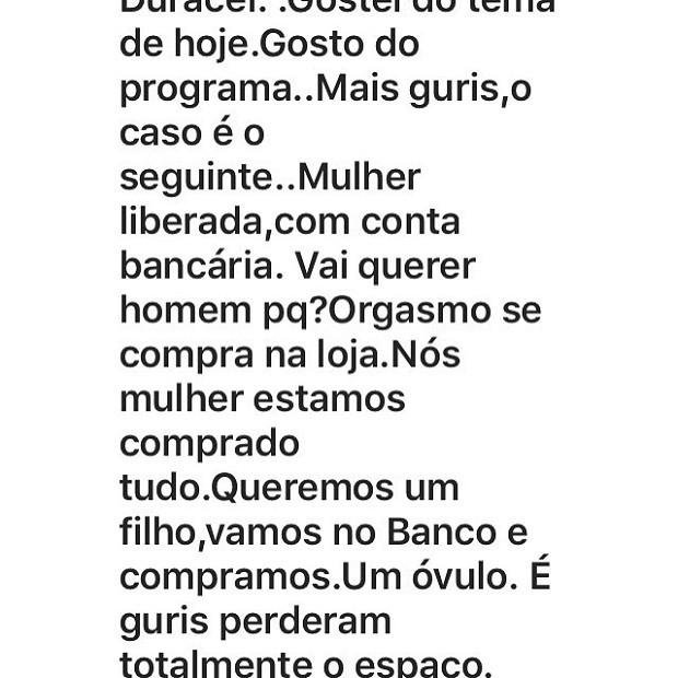 Internauta ataca Leo Jaime (Foto: Instagram / Reprodução)