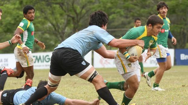 Brasil e Uruguai - Campeonato Sul-Americano Juvenil de Rugbi (Foto: João Neto / Fotojump / CBRu)
