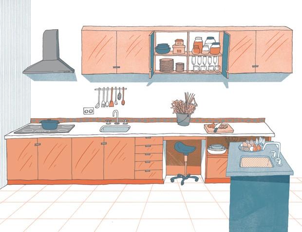 medidas cozinhas reforma guia métrico (Foto: Ilustração Daniel Almeida)