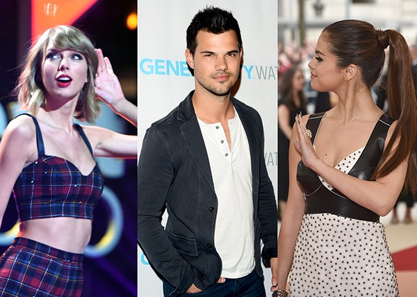 Taylor Swift, Taylor Lautner, Selena Gomez (Foto: Getty Images)