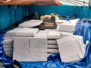 Droga foi apreendida em Correntina (Foto: Divulgação / PF)