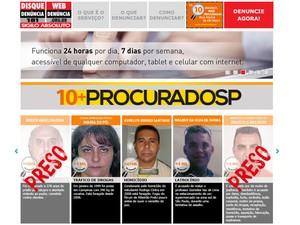 Página do Web Denúncia (Foto: Reprodução / Web Denúncia)